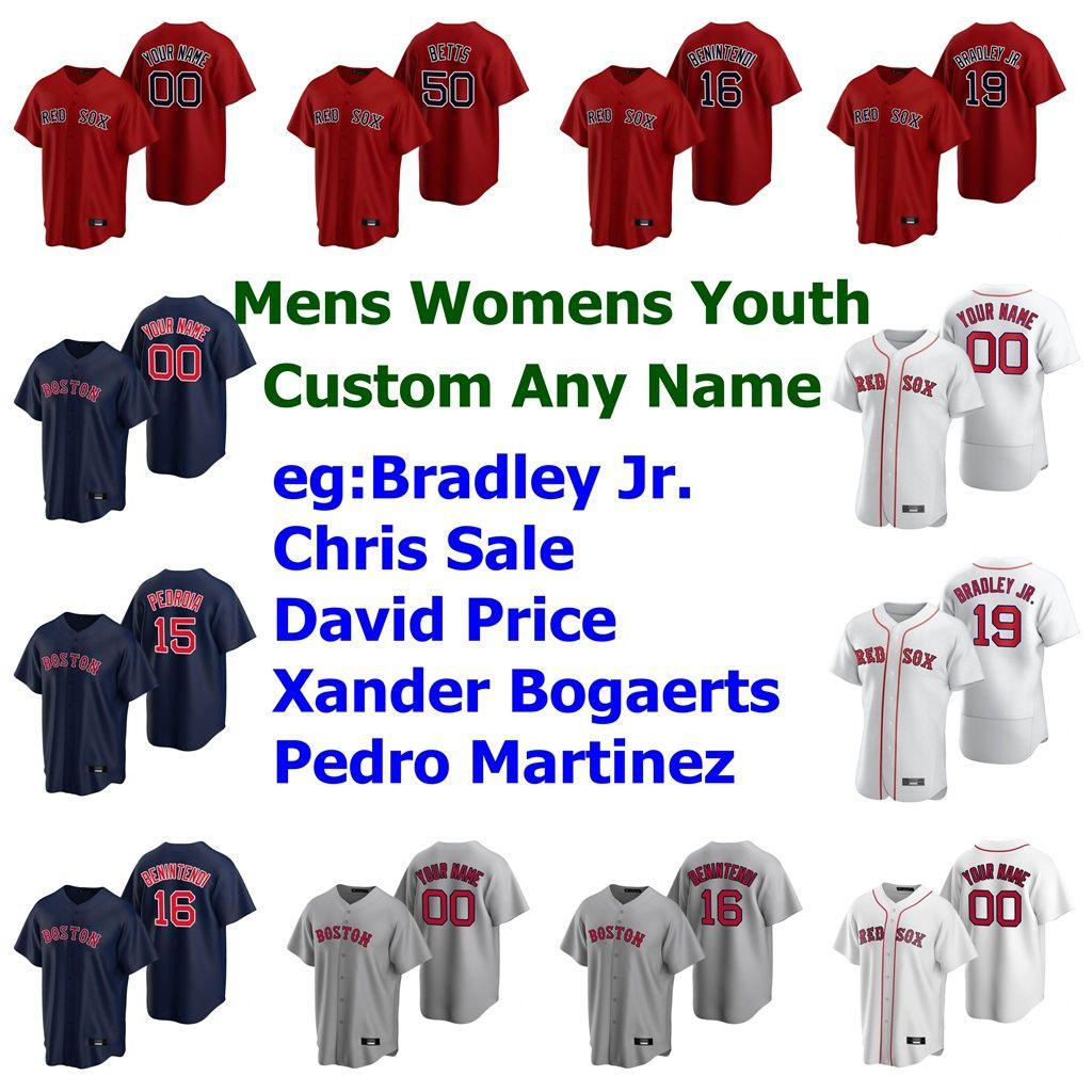 41 Chris Sale Jersey Frauen 10 David Price 2 Xander Bogaerts 45 Pedro Martinez George Kell Rusney Castillo Baseball Individuelle genähtes