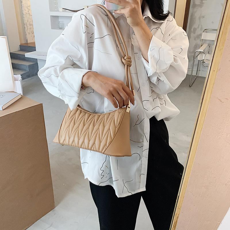 Sprache Mengwei weisepu Baguette Tasche 2020 neue koreanische wilde weibliche Achseltasche Textur Gezeiten Schulter Umhängetasche