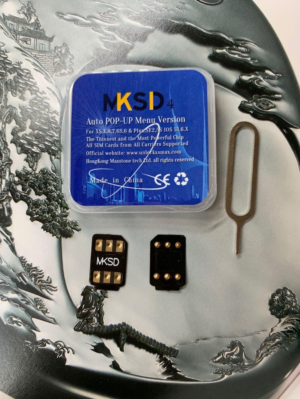 MKSD4 vsim Gold Aufschließen Karte sim ios 12 bis ios14 ICCID Entsperren für iPhone11p 11p max, 11, xsmax xr, X, 8,8PLUS 7,7plus XS, 6Plus 4G LTE