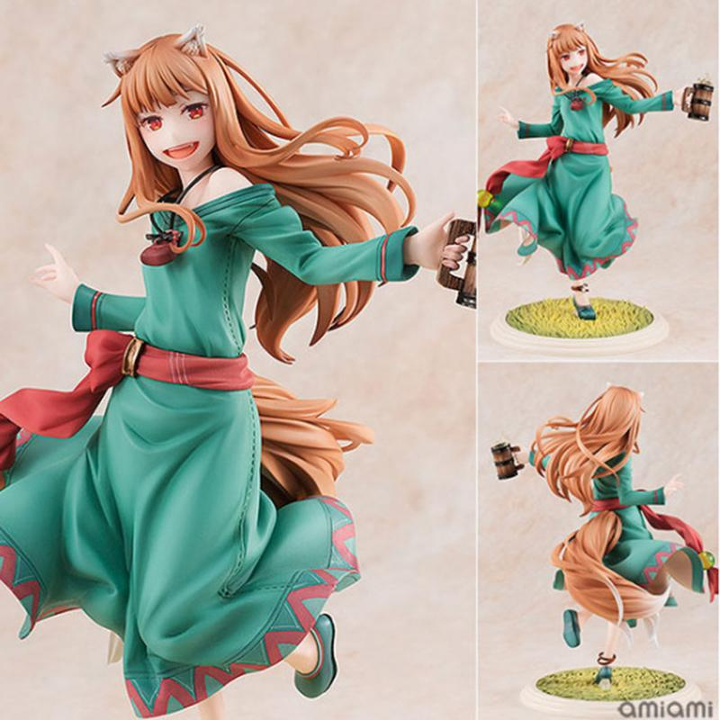 18cm Spice and Wolf Sexy Girl Holo Action Figure Holo 10th Anniversary Edition Japanese Anime Figure Adult Collection Model Toy T200715
