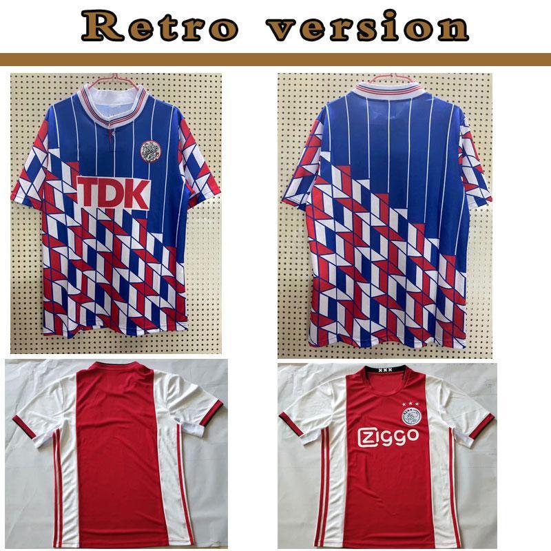 1994 1995 Maglia Ajax retrò calcio 94 95 96 Rijkaard Kluivert Litmanen SEEDORF DAVIDS OVERMARS 04 05 di calcio 1989 camicia BABEL 97 98 99 2000