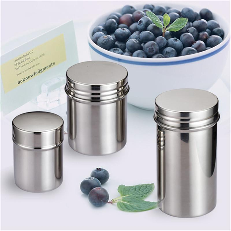 High-quality Storage Bottles & Jars 304 stainless steel sealed cans portable storage tank milk tea cans seasoning jar LX1241