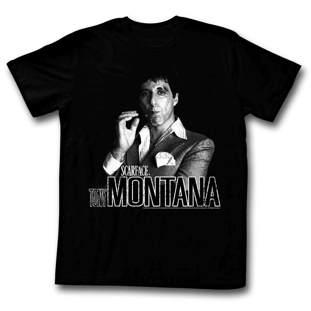 Komik Tişörtlü Erkekler Yenilikçi Tişört Scarface Tony Montana Tee Gömlek Erkek 2018 Yeni Baskı Üst Tee Artı boyutu Harajuku