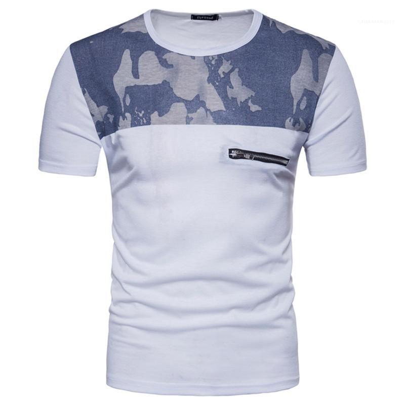 Щитовые Tshirts естественный цвет с коротким рукавом Повседневная одежда для Tshirts Мужские Мужские Летней Tees Мода Камуфляж