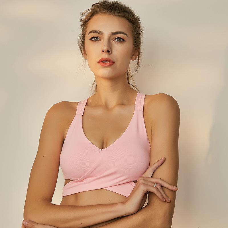 de Nylon Mulheres Esporte Bra Vest Push Up Workout Esportes Yoga Shirts Gym Top Curto Sexy Ativo fitness wear Brassiere Vest Regatas