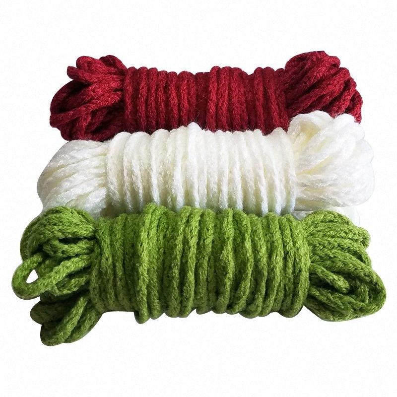 100% acrylique cordons tressés 5 mm de diamètre 15m / lot de corde épaisse pour la main tricot crochet décoration bricolage F2wF #