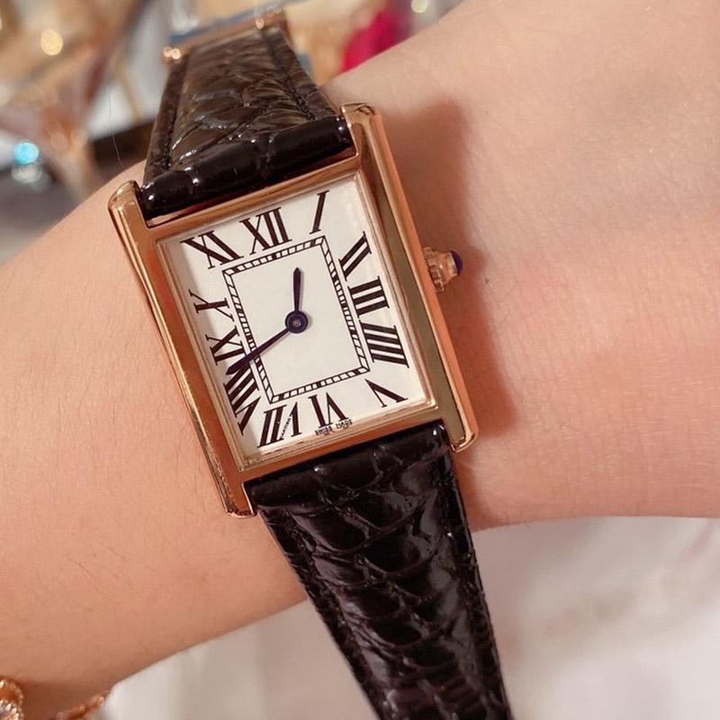 новые женщины моды смотреть сверху A ++ дизайнер часы кожаного ремешка кварц случайных часов для леди лучшего подарка Orologio де Lusso