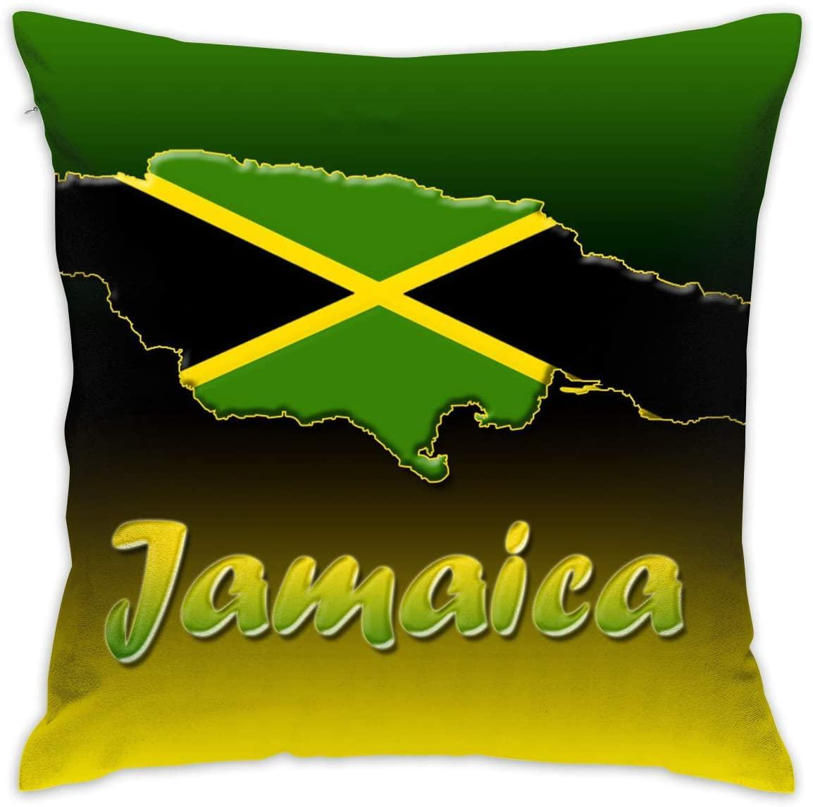 EU Jamaica Decorative Pillowcase for Home Sofa Bedding Couch 18 X 18 Inch 45 X 45 cm