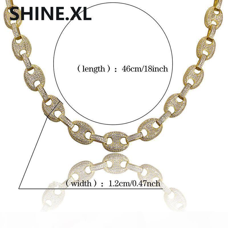 Hip-hop dos homens jóia colar e placa cobre pulseiras ouro Cor Prata Micro Pave CZ Stone Fazer a ligação Set Chains Jóias