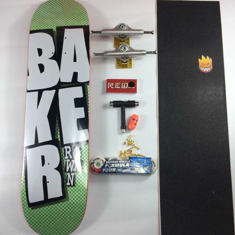 스케이트 보드 베이커 프로 캐나다 단풍 나무 스케이트 보드 스케이트 보드와 모든 액세서리 데크 트럭 바퀴 Graptable의 세트 완료