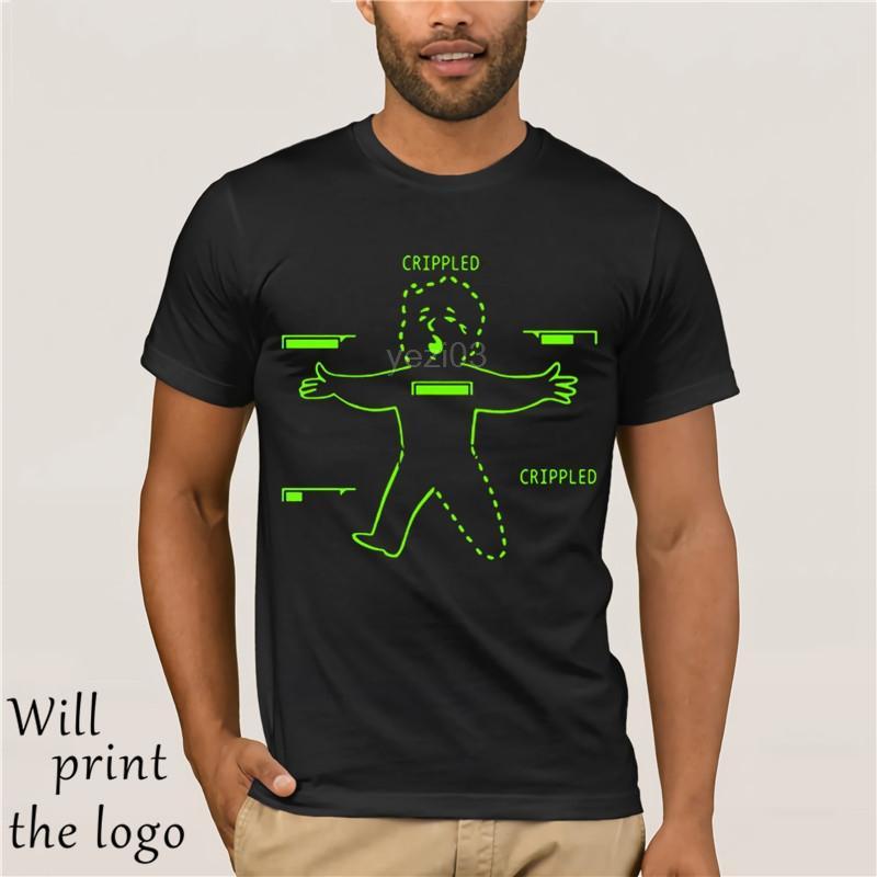 El más barato divertida camiseta divertida camiseta del muchacho lisiado T camisa de cuello redondo Homme