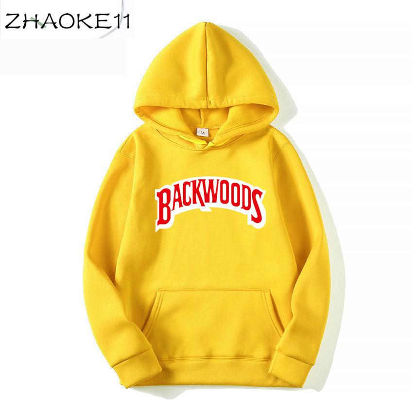 Hoody kazak Kapüşonlular Streetwear Backwoods Hoodie Kazak Erkekler Erkekler Fshion sonbahar kış Hip Hop hoodie manşet vida dişi