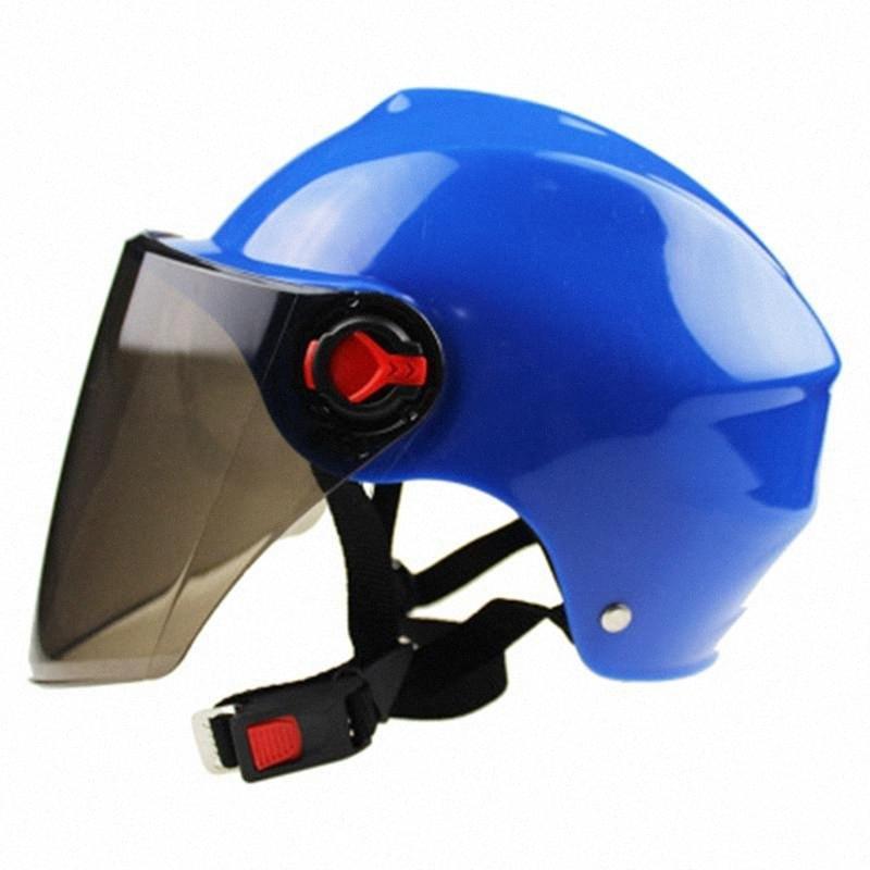 Casque de moto Scooter Vélo Anti UV Sécurité Casque Motocross Casque Couleur Multiple Protect 1lWp #