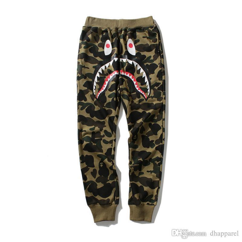 Allentate casuali Pantaloni Moda Jogger Pantaloni Hip Hop Camo dei nuovi uomini di autunno di stampa del fumetto Uminous pantaloni sottili di trasporto