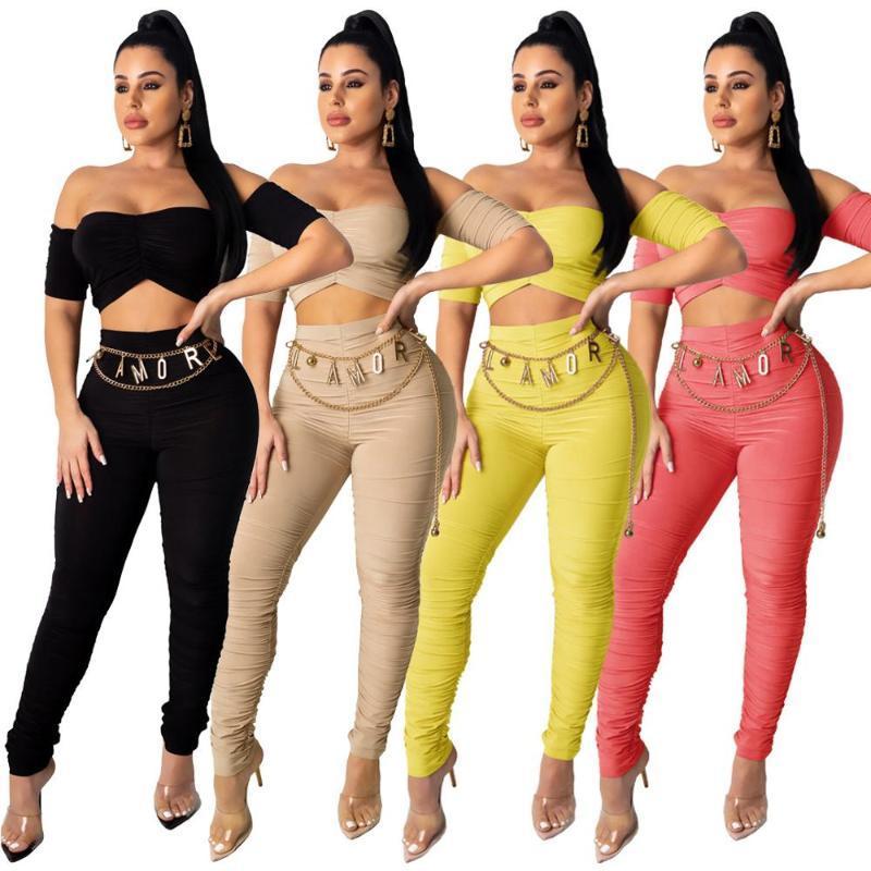 Wjustforu Moda sin tirantes atractivo de la colmena de conexión en cascada 2 trajes pieza para las mujeres ocasionales trajes de color sólido tapa corta + lápiz traje de pantalones