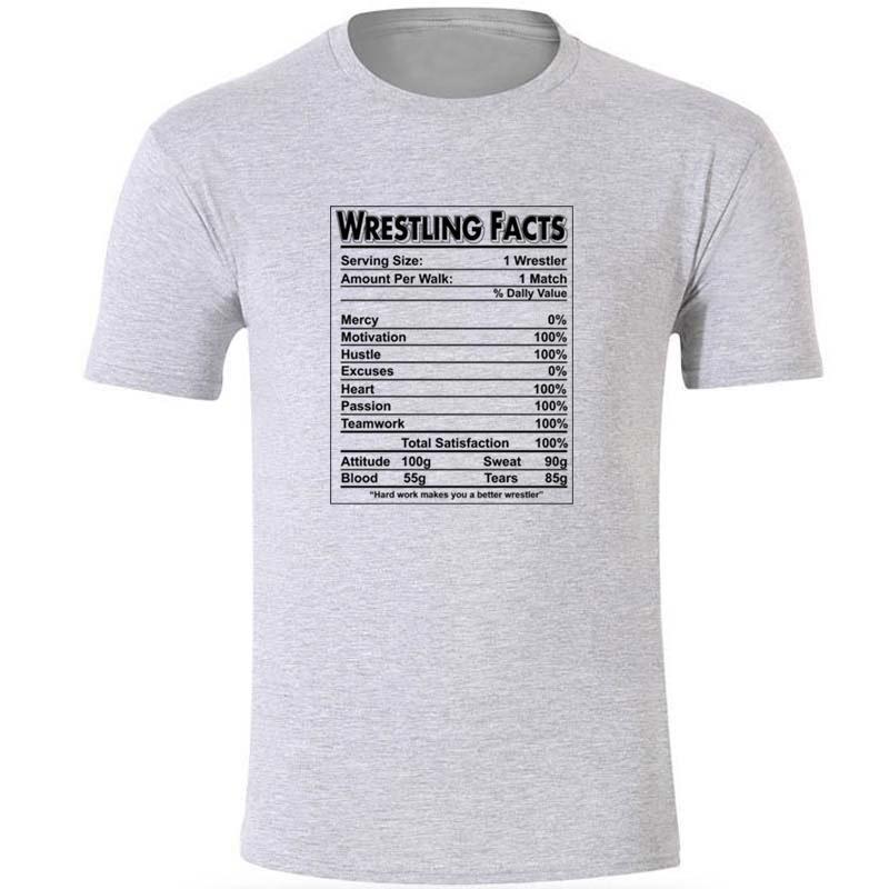 Faits de lutte Lutte unisexe shirt Lutte T-shirt pour les hommes Hommes T-shirt Taille S-3XL Homme Imprimer T-shirt des hommes O-Neck Tops cool