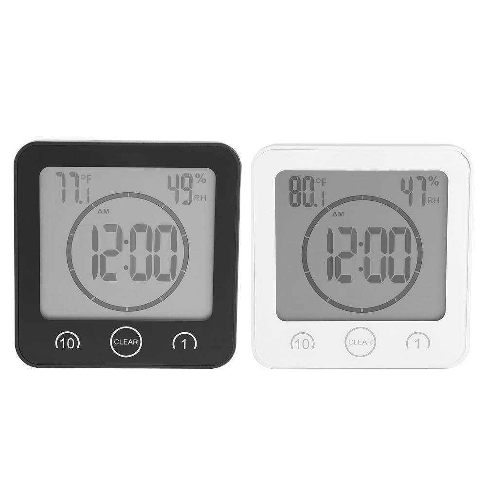 Großhandel Wasserdichte Badezimmer Timer Wanduhr LCD Digital Thermometer  Hygrometer Timer Mit Saugnapf Großhandel T9 Von Highqualit9, 9,9 €