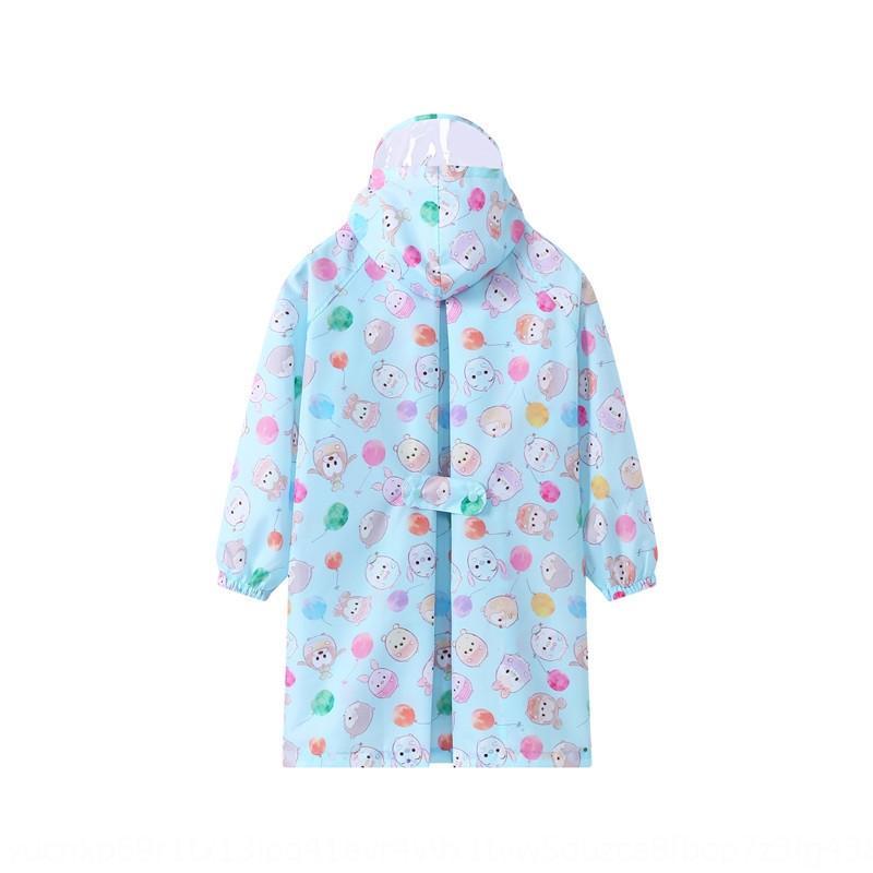 capa de chuva CSRc4 dos desenhos animados Q versão infantil com mochila Body Bag veste as roupas do corpo Cloak chuva boysgirlsbabiesjumpsuit borda transparente