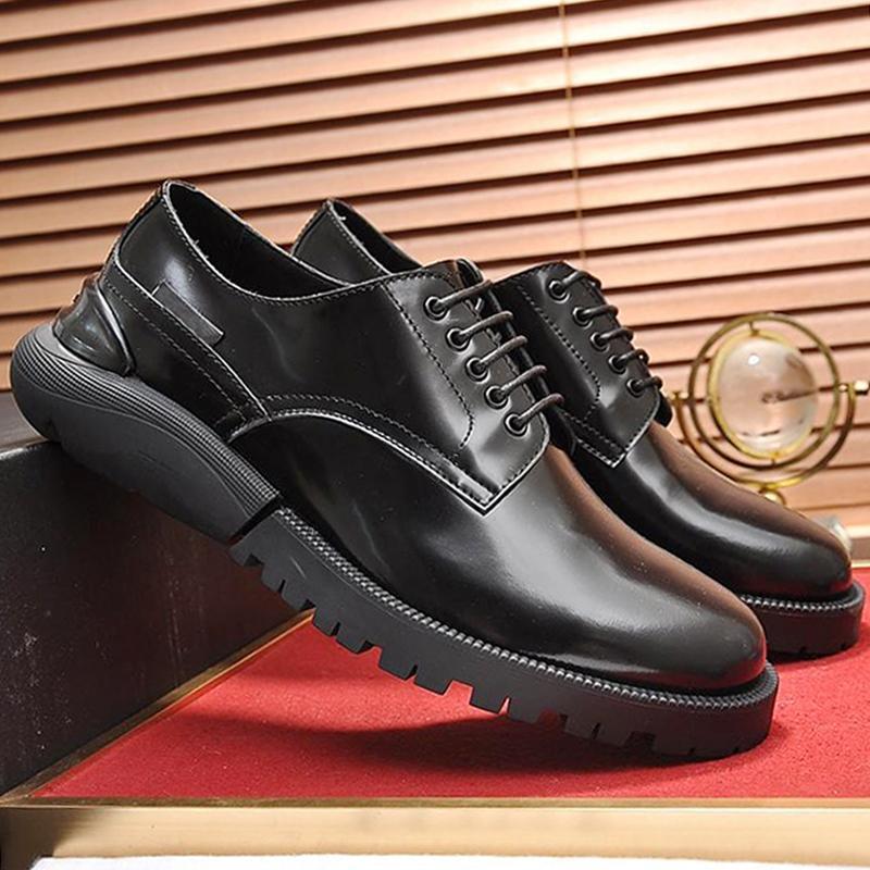 Alta calidad Derby calzado transpirable ligero vestido del negocio de los hombres Zapatos '; zapatos formales S del cuero partido de los hombres de cuero de encaje -Up Oficina Oxf
