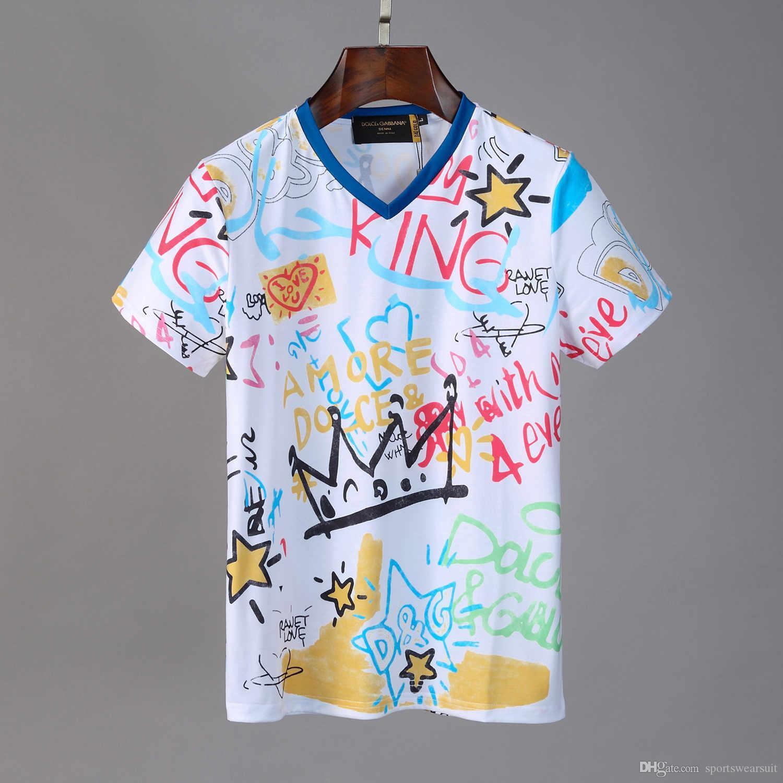 Zeitigen Frühjahr 2020 neue 3D-Männer-T-Shirt Farbblockbuchstaben Designer Kurzarm T-Shirt Doppelstrang feinen Baumwollstoff schwarz und weiß n1