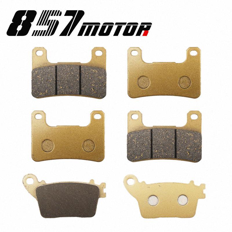 Para ZX10R ZX10R 1000 Ninja ABS 2011-2020 Pastillas de freno delantero posterior 2012 2013 2014 11 12 13 14 15 BFKO #