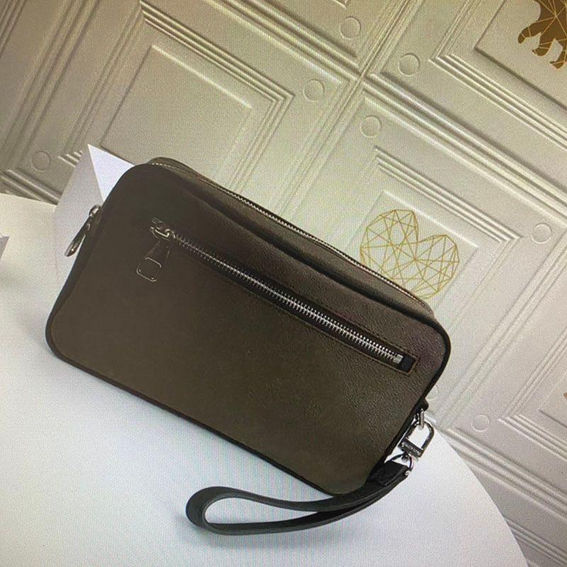 M42838 كاساي حقيبة الشريط المعصمين للرجال أزياء كلاسيكية المرأة قماش مطلي المعصم أدوات الزينة أطقم تجميل محفظة حقائب اليد، وسائد هوائية الفاصل N41664