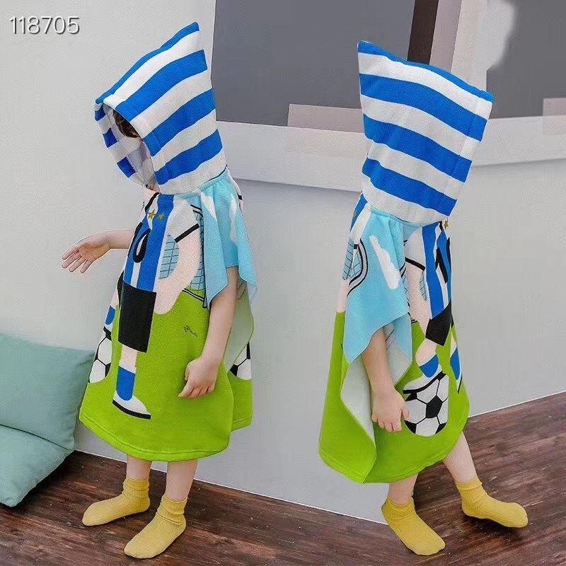 New Cloak Bathrobe bath soft absorbent children's bathrobe active printing cartoon hat bath towel towel children's cloak