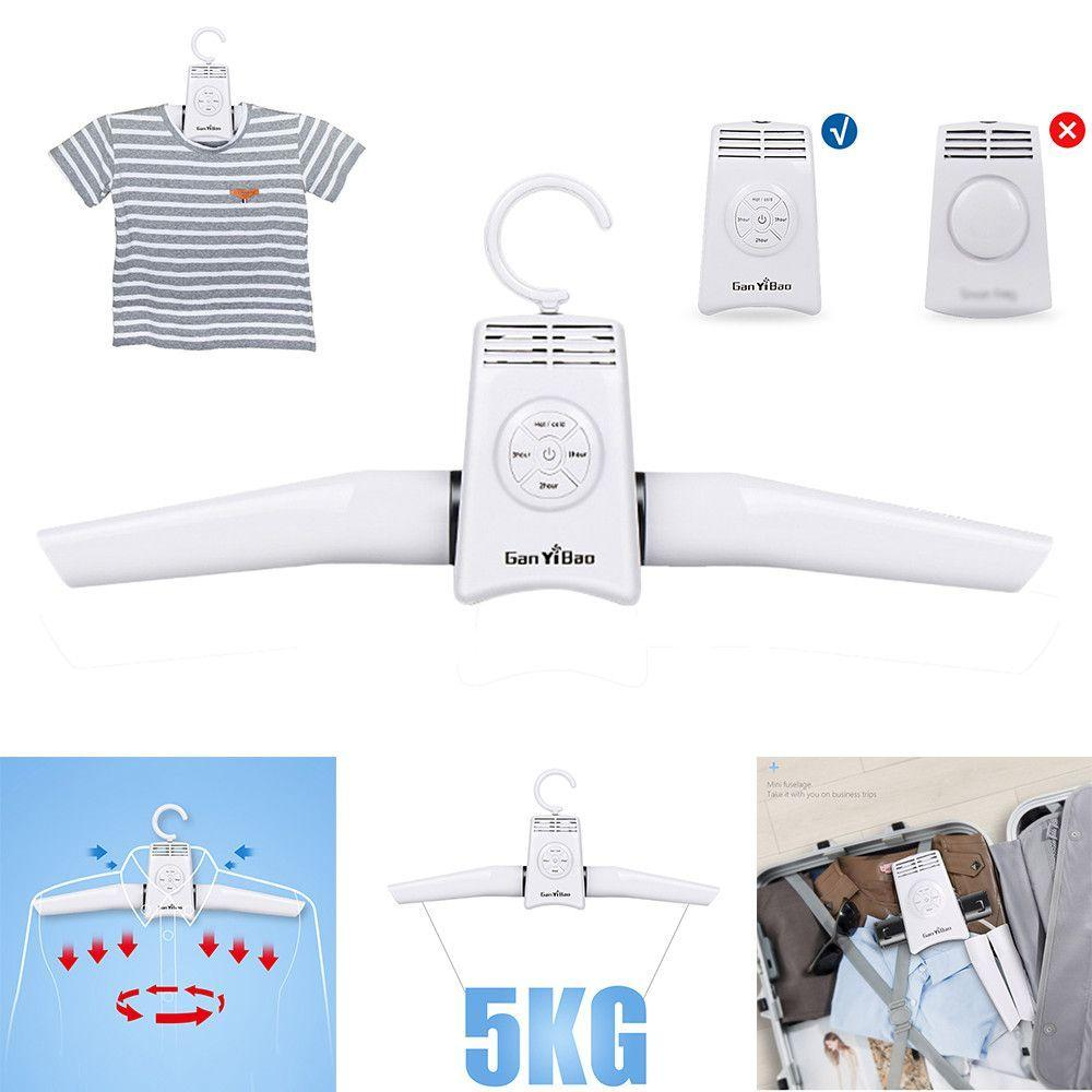 Portable Electric Folding Clothes Hanger Dryer Drying Rack Travel Laundry Rack