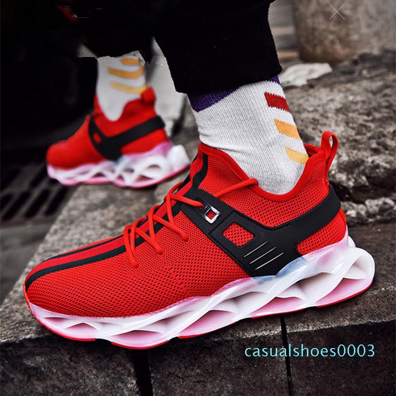 2020 Moda Soğuk Erkekler Bıçak Koşu Ayakkabı Yüksek Kalite Nefes Erkek Spor Shoest Run Ayakkabı Açık Casual Ayakkabı c03