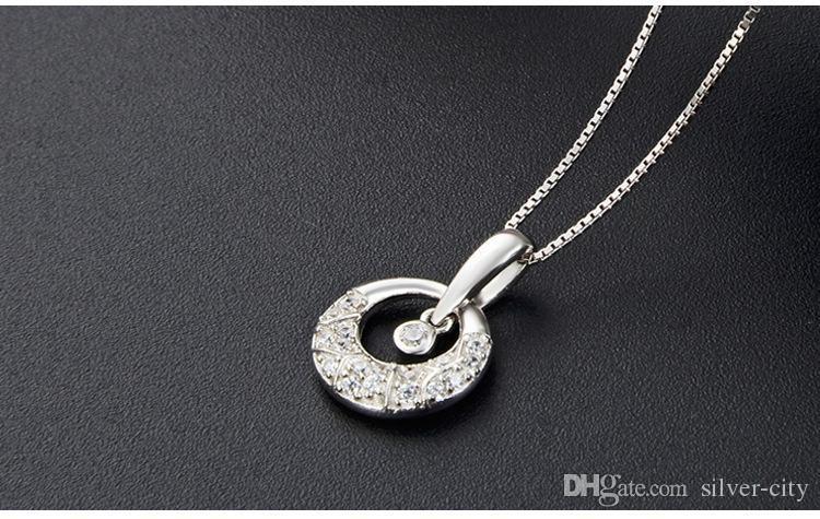 56 Валентина день подарков верхнего качества S925 CZ подвески стерлингового серебра для ожерелья серебра CZ кулон источника серебра ювелирных изделий фабрики DDS1286