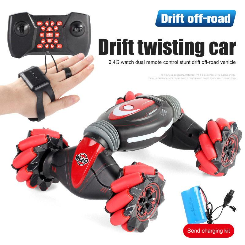 Gesture Induction Car Light Music Drift Dancing Remote Control Stunt Cars Off-Road Vehicle RC Toys for child Christmas gift Y200317