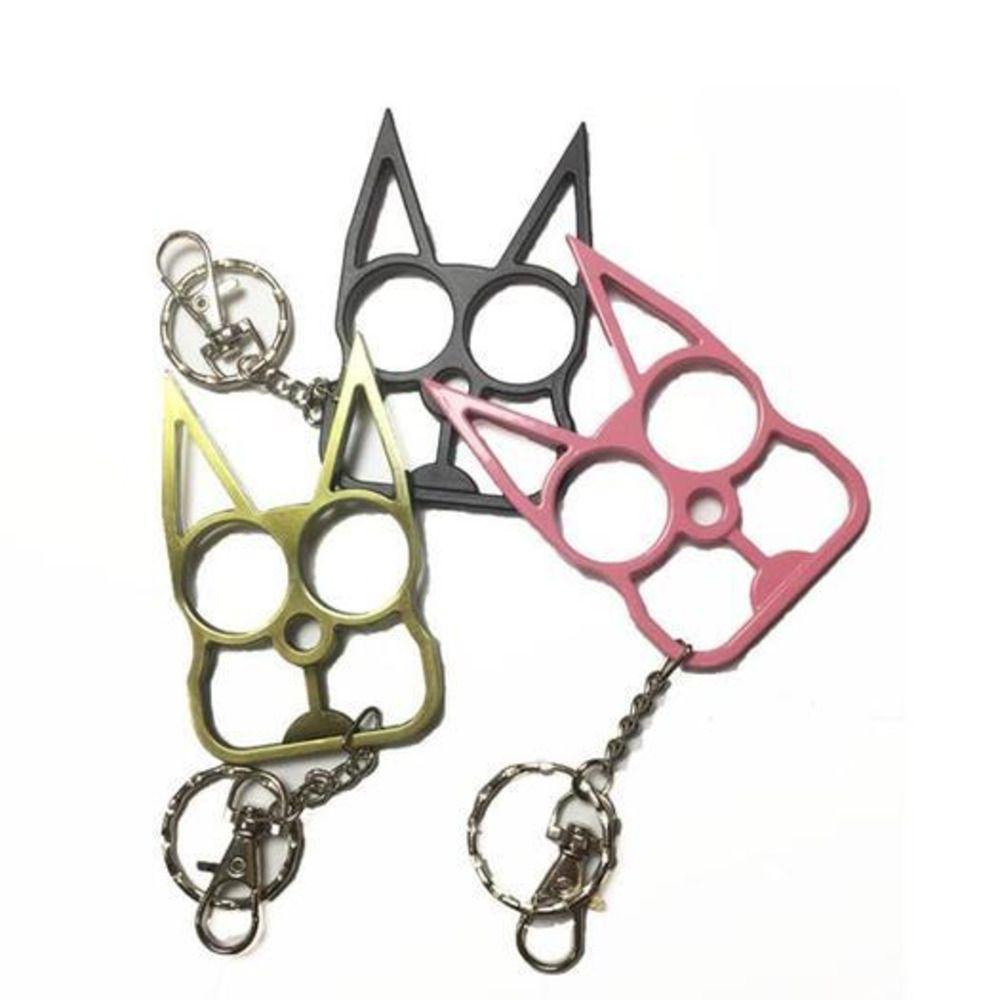 Самооборона Мода Женщины Мужчины Брелок Симпатичные CAT Оригинальный Инструмент Ключ Цепной Ключ Цепной Сплав Открыватель Открывающий Открытый Открытый
