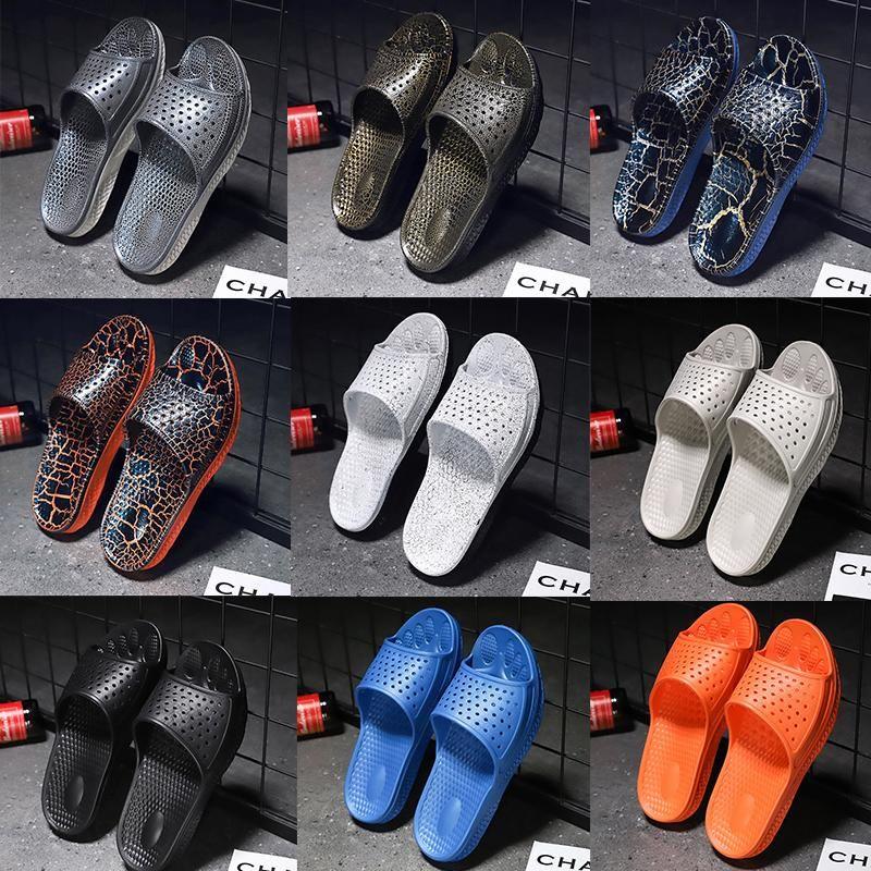 Herrenschuhe Sandalen und Pantoffeln atmungs Massage untere Loch Schuhe beiläufige wilde Abnutzung rutschfeste personalisierte Strand Pantoffeln große Größe 39