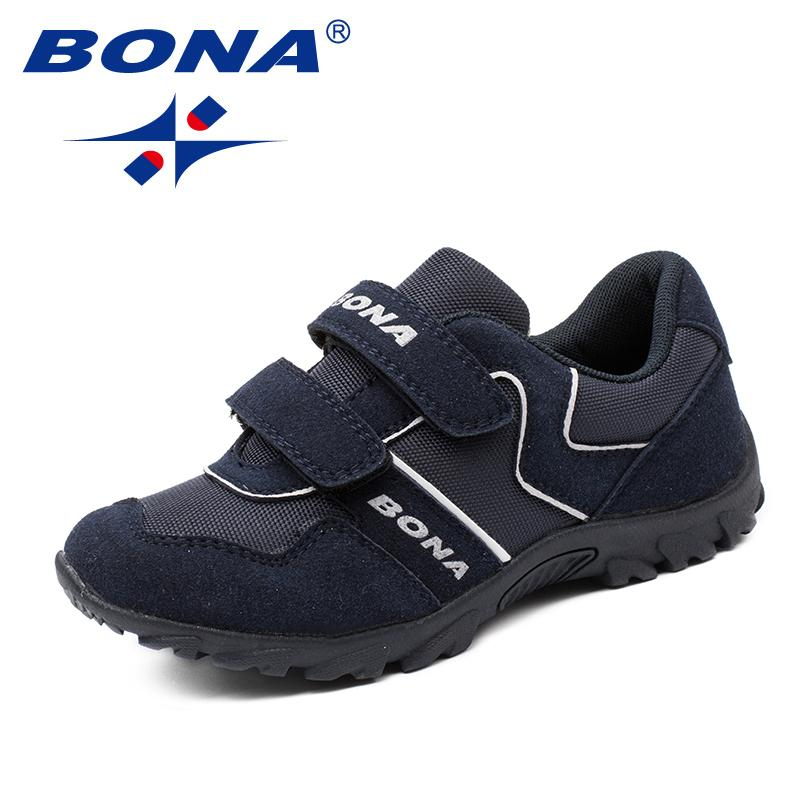 BONA New Classics Style Children Casual Shoes Synthetic Boy Shoes Hook & Loop Boy Loafers Outdoor Fashion Sneakers Free Shipping