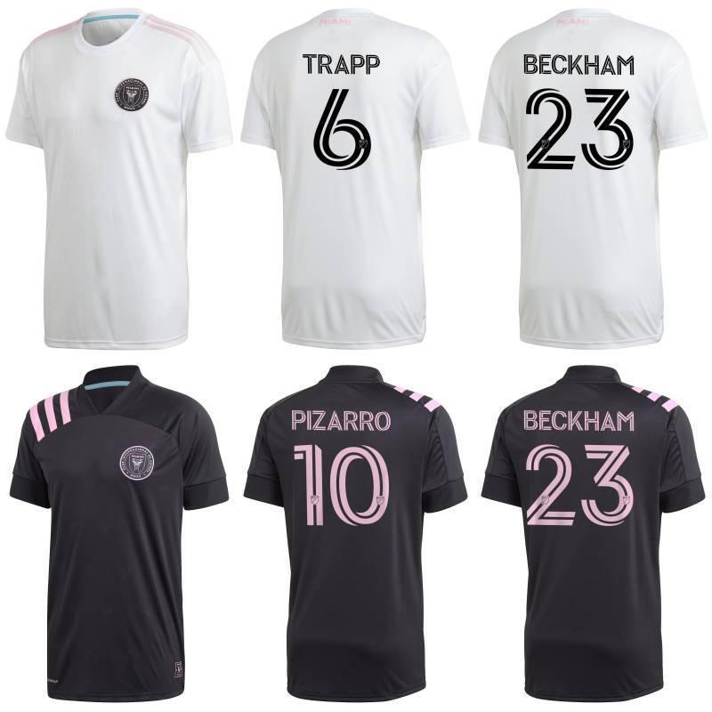 2020 Inter Miami maillots de football 2020/21 # 10 PIZARRO TRAPP PELLEGRINI uniformes Mens MLS # 23 Chemises BECKHAM CARRANZA football