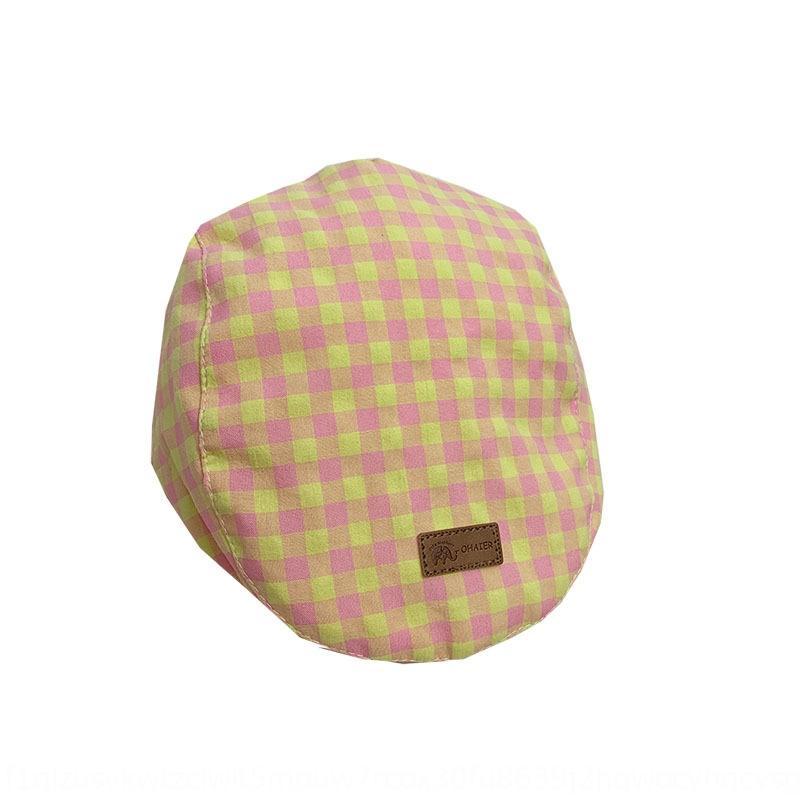 Bebé boina boina a cuadros británica sol beretberet delgada 1-2 años E7TAh nuevo sombrero de la manera del sombrero de los niños del casquillo