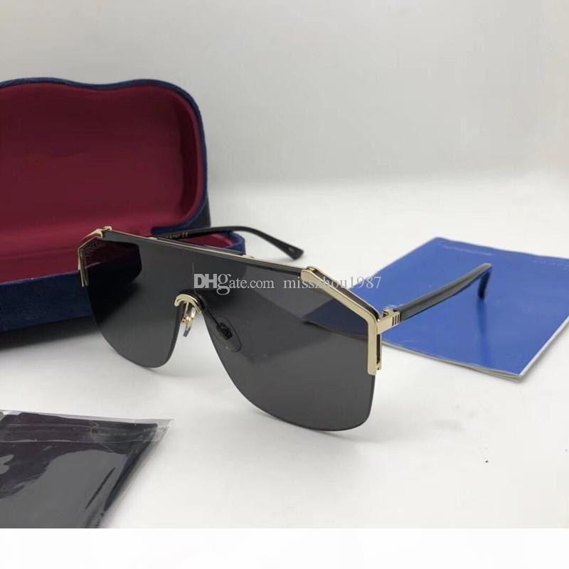 Luxury 0291 occhiali da sole firmati per le donne degli occhiali da sole di Sunglass Wrap Mezza cornice di rivestimento in fibra di carbonio Specchio Lens gambe stile estivo.