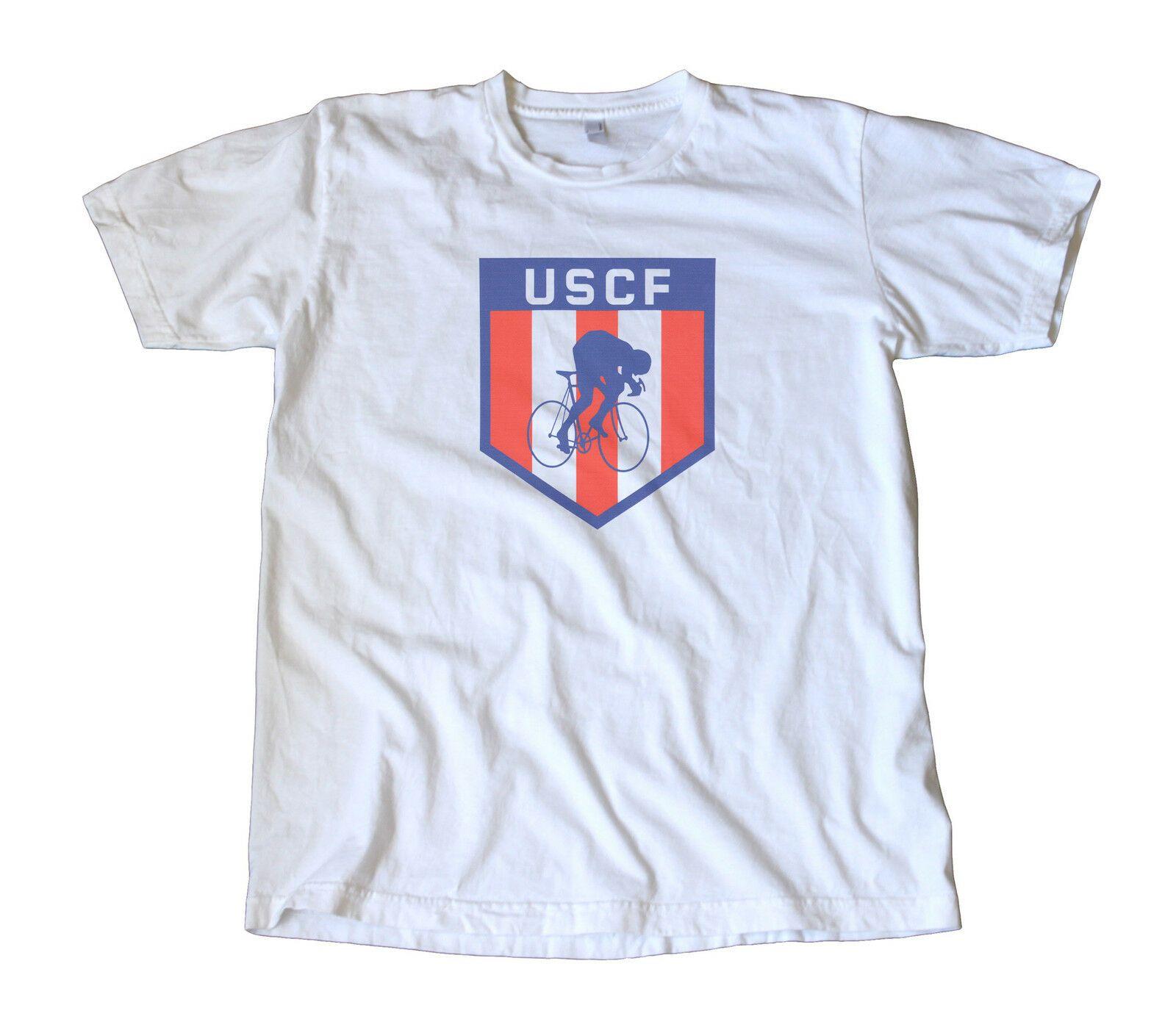 Klassische USA Cycling Federation Logo T-Shirt - USCF, Fixie, Racing