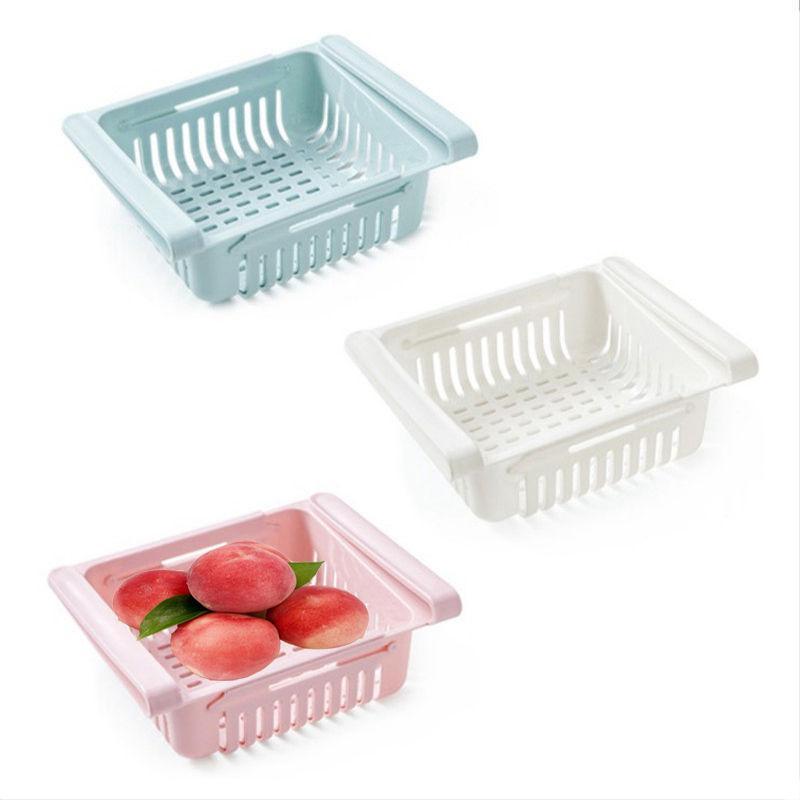 صندوق تخزين المطبخ المطبخ قابل للتعديل تخزين الثلاجة رف الثلاجة الفريزر رف رف الانسحاب سبا مربع درج