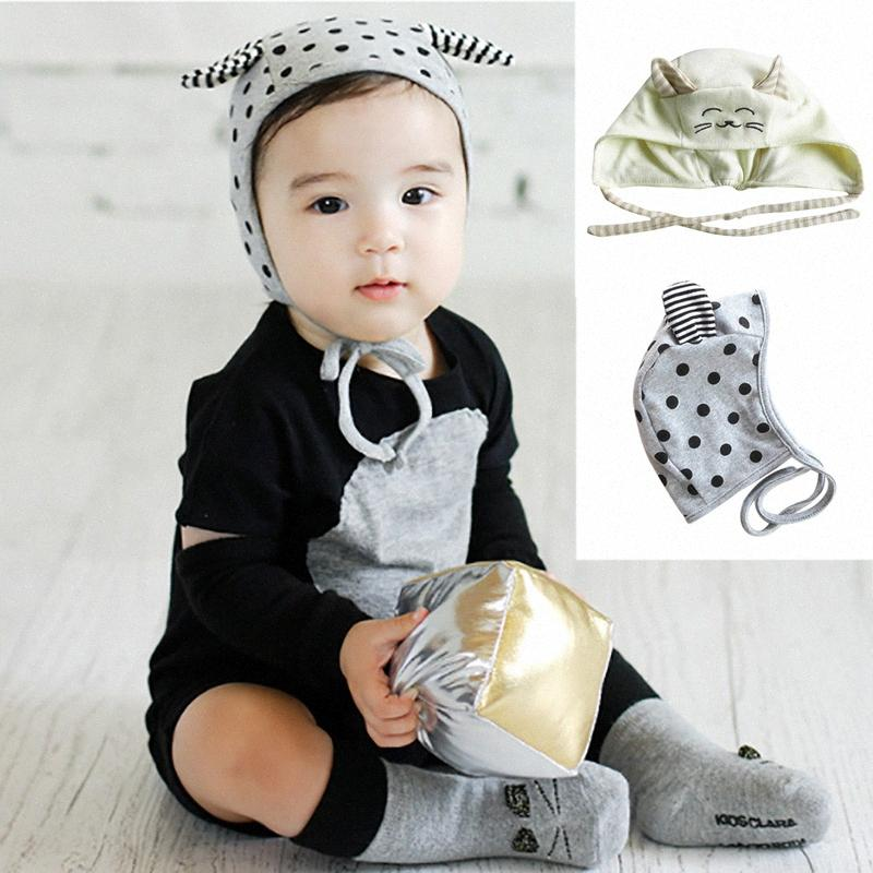 Per il neonato di primavera ricamo Cappelli Accessori del fumetto cappello del bambino animale sveglio dei ragazzi delle neonate piccoli Cotton sonno Cap GStz #