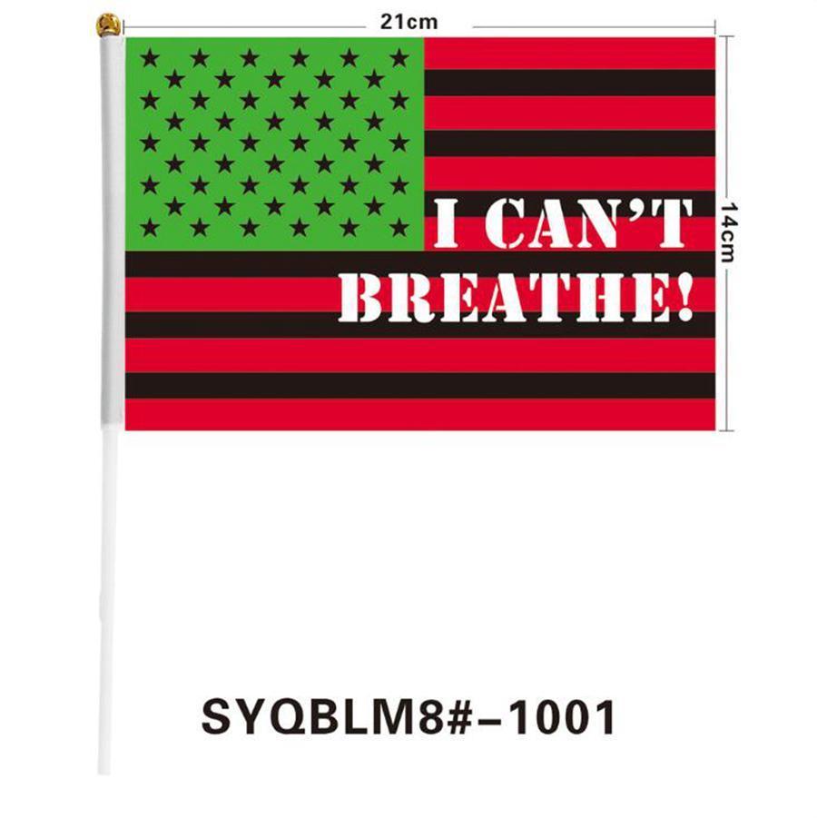 Je ne peux pas respirer Drapeau noir MATTER Lettre Imprimé VIES poche extérieure américaine Banner Flag 9 Styles OOA8069