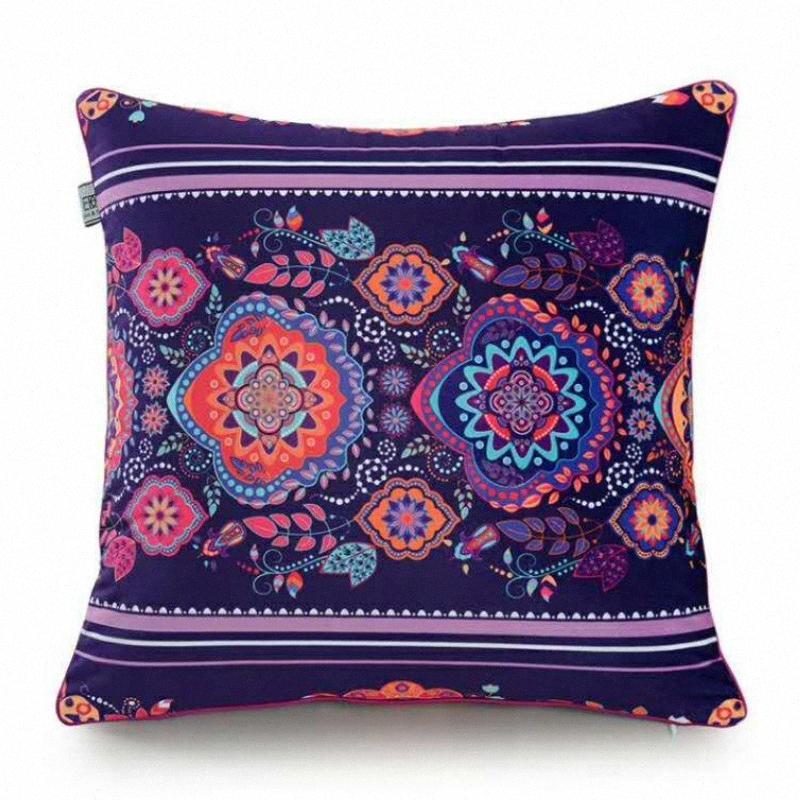 Startseite Dekorative Velvet Wurfkissenbezug Wohnzimmer Sofa Auto Almofada * Frauen-böhmische Art Kissen- Geometrische CSAP #