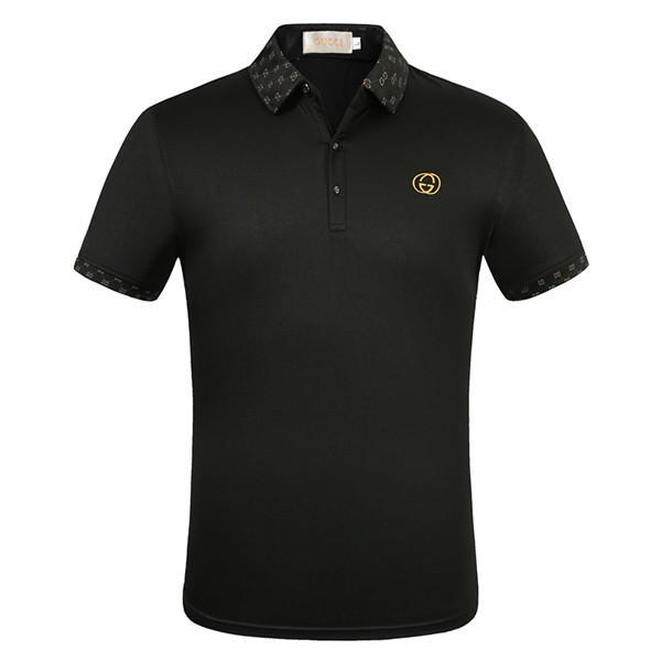 2020 verano marca de ropa de diseño de lujo polos de los hombres Polo casual de serpiente de la manera abeja Imprimir bordado camiseta para hombre de la calle principal Polos