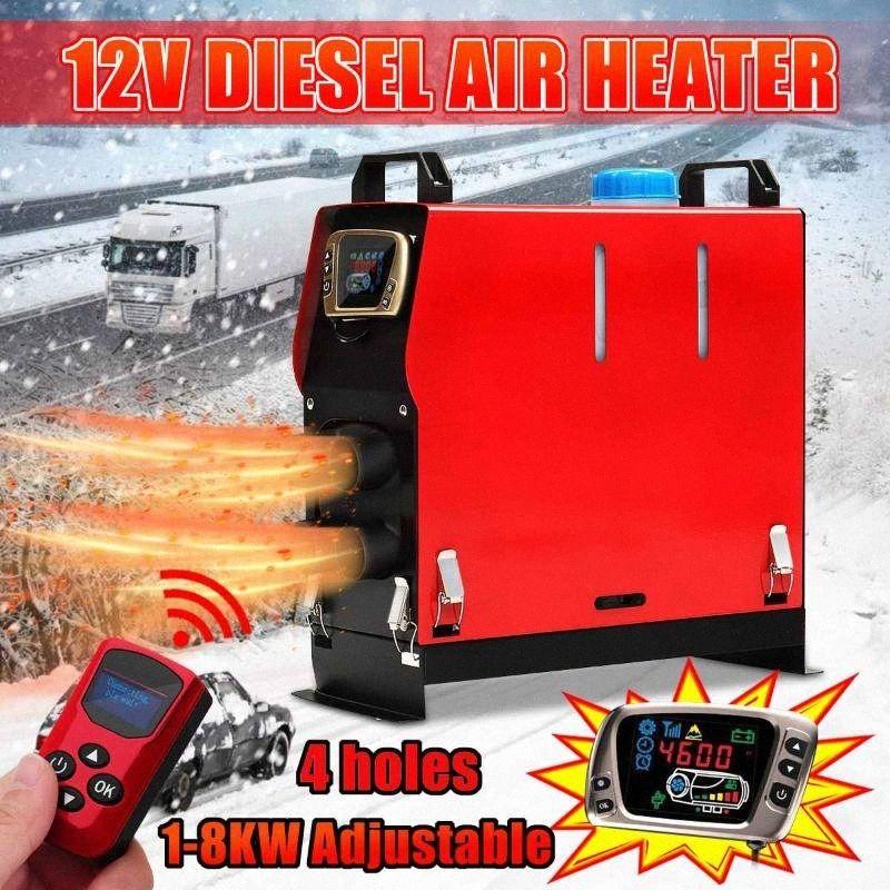 Einstellbar in One 1-8KW 12V Auto-Heizung Klima Diesel Heizung Standheizung All + Fernbedienung LCD-Monitor für RV, Anhänger, Boote ygx8 #