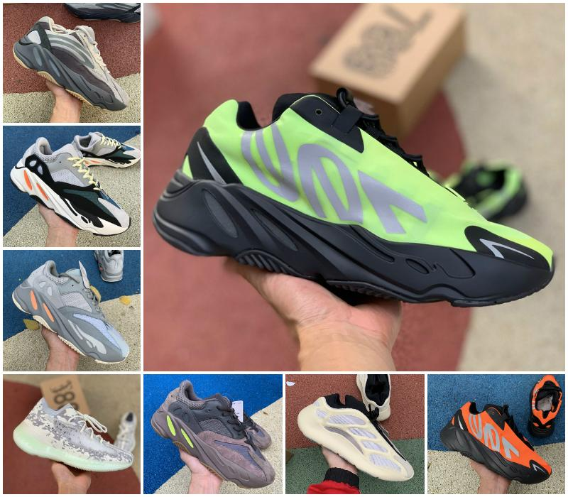 Neue 700 MNVN orange Triple Black Herren Laufschuhe Vanta V3 Alvah Azael Inertia Kanye West Runner V2 Alien 380 Mist Static Reflective Schuhe