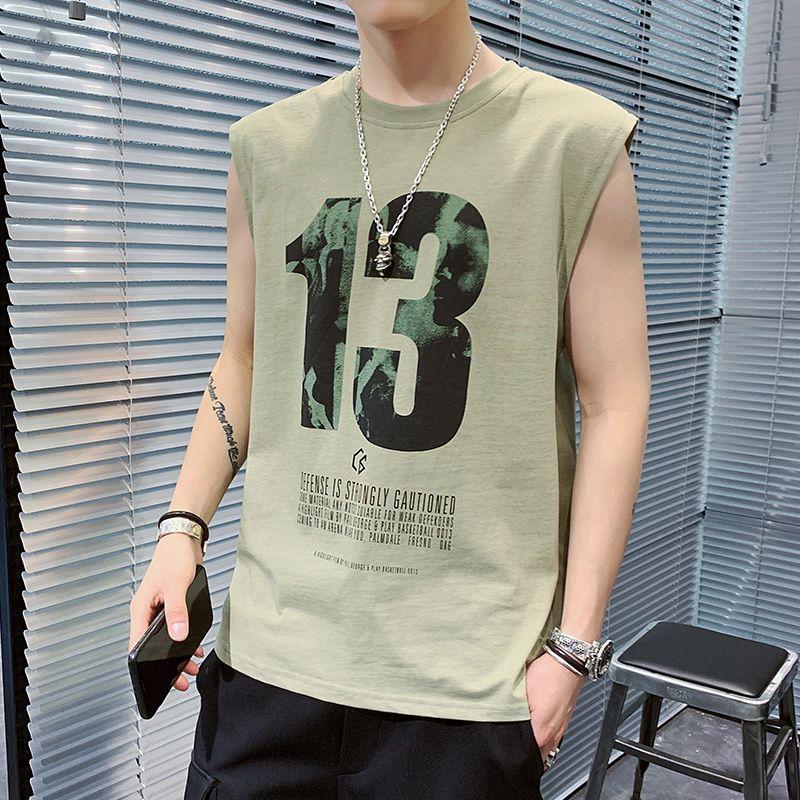 Männer T-Shirt Sommer 2020 der neuen Ankunfts-Männer schließen Sleeveless Weste-Unterhemd Beliebte Logo Fashion Trend Printed Cotton T-Shirt