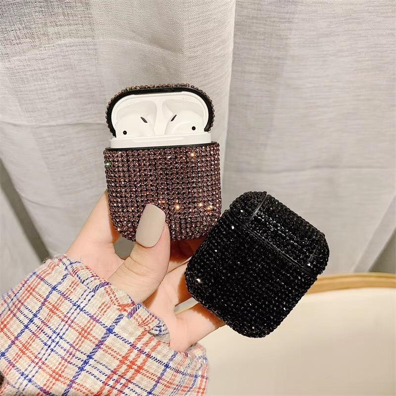 Fashion Glitter Rhinestone Wireless Bluetooth Earphone Case For Airpods 1/2 Charging Box Shockproof Protective Case Cover