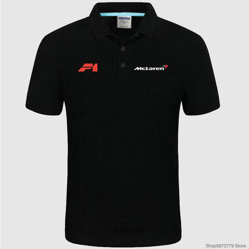 Haute qualité McLaren logo Polo marque classique Hommes Polo Hommes solides Casual coton à manches courtes Polos