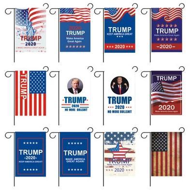 30 * 45cm Banderas Donald John Trump para el año 2020 el presidente Amercia campaña de banners de Ployester Cloth banderín banderas EEA1845