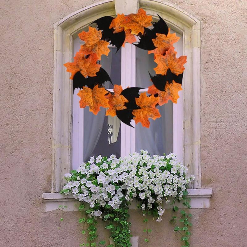 Decoração de Halloween Bat Garland Pendant Bar decorações das janelas a suspensão da porta Garland NOVO 2020